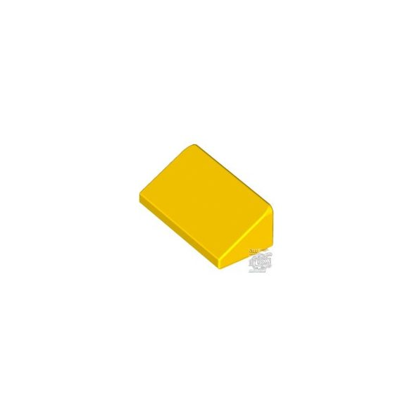Lego ROOF TILE 1 X 2 X 2/3, ABS, Bright yellow