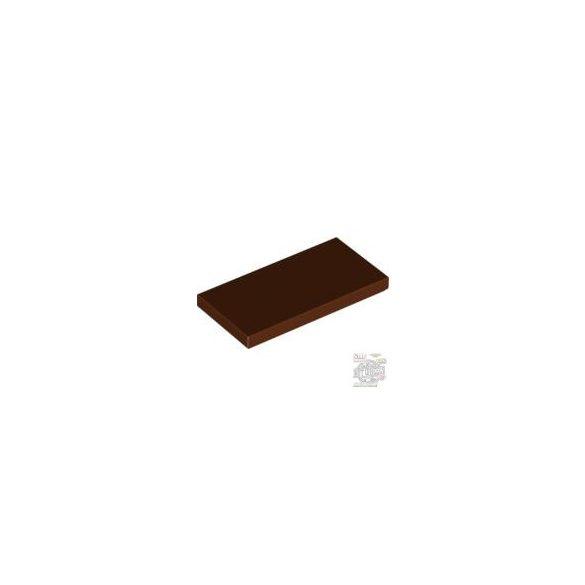 Lego Flat Tile 2X4, Reddish brown