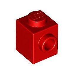 Lego BRICK 1X1 W. 1 KNOB, Bright red