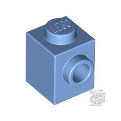 Lego BRICK 1X1 W. 1 KNOB, Medium blue