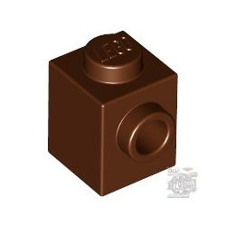 Lego BRICK 1X1 W. 1 KNOB, Reddish brown