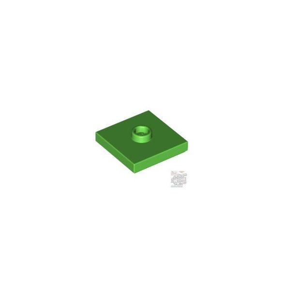 Lego PLATE 2X2 W 1 KNOB, Bright green
