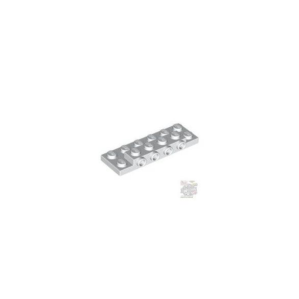 Lego PLATE 2X6X2/3 W 4 HOR. KNOB, White