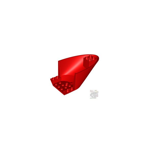 Lego Inv. roof t.6x10x4 w.doubl.bow, Bright red