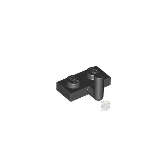 Lego PLATE 1X2 W. VERTICAL SCHAFT, Black