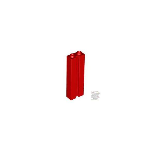 Lego BRICK 1X2X5 W. GROOVE, Bright red