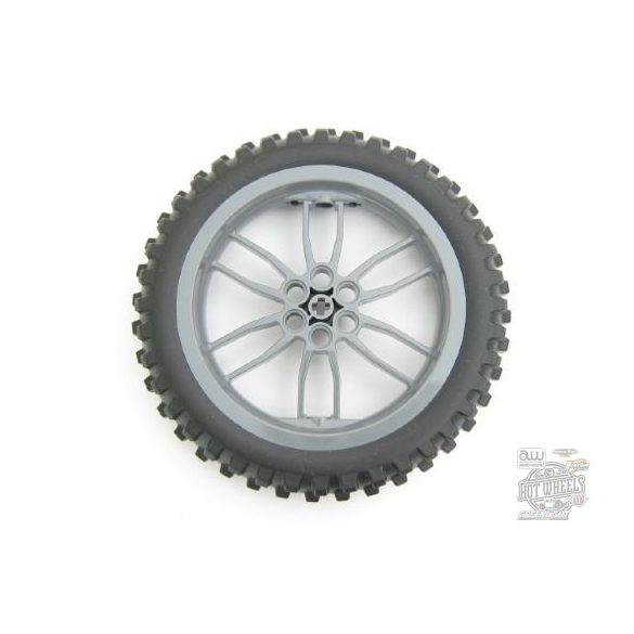 Lego Technic Wheel 75mm D. x 17mm Motorcycle with Black Tire 100.6mm D. Motorcycle (88517 / 11957)