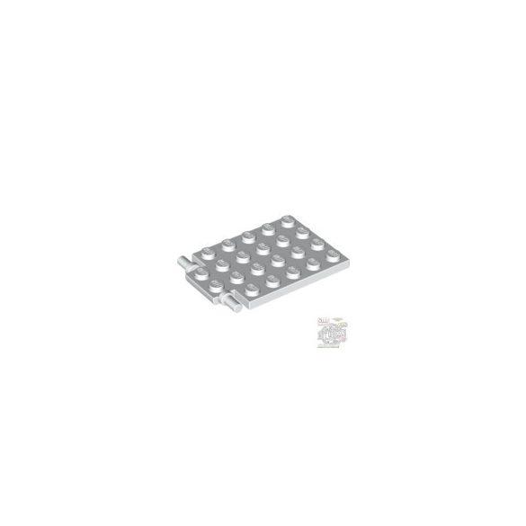 Lego PLATE 4X5 W. SHAFT Ø3.2, White