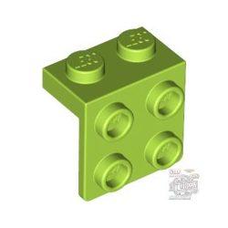 Lego Angle Plate 1X2 / 2X2, Bright yellowish green
