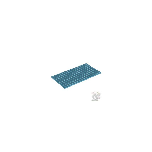 Lego Plate 8x16,Medium azur