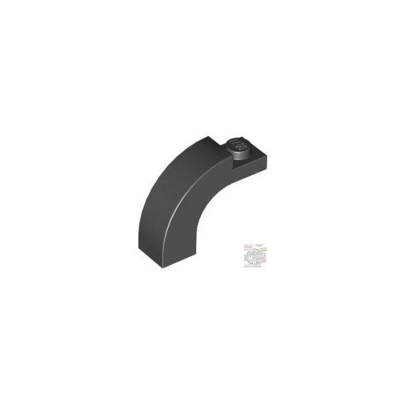 Lego BRICK 1X3X2 W/INS AND OUTS.BOW, Black