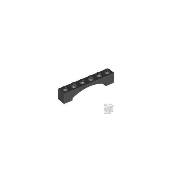 Lego Brick 1X6 W/Inside Bow, Black