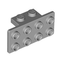 Lego ANGLE PLATE 1X2 / 2X4, Light grey