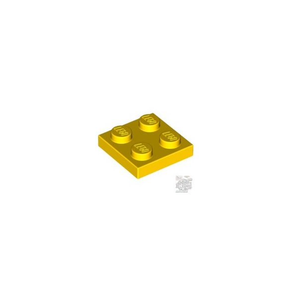 Lego PLATE 2X2, Bright yellow