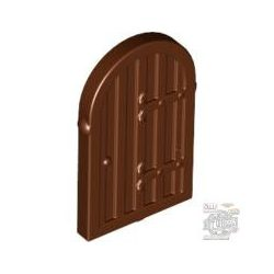 Lego DOOR FOR 30044, reddish brown