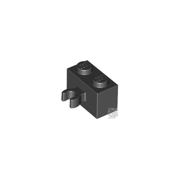 Lego Brick 1X2 W. Horizontal Holder, Black
