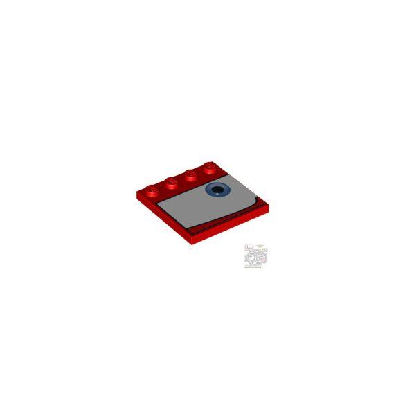 Lego PLATE 4X4 W 4 KNOB 'RIGHT NO7', Bright red