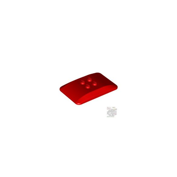Lego ROOF 4X6X2/3, Bright red