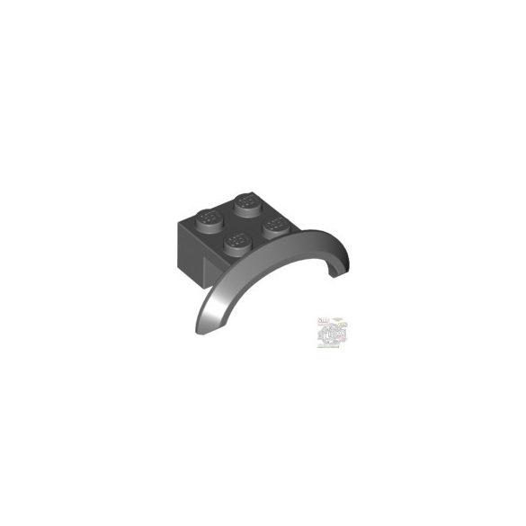 Lego BRICK 2X4X1 W. SCREEN NO. 2, Dark grey