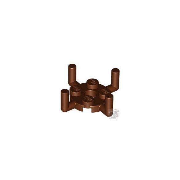 Lego PLATE ROUND 2X2, Reddish brown