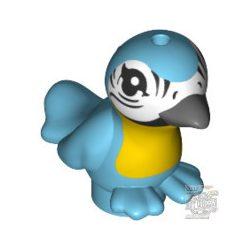 Lego Bird, Friends / Elves with Bright Light Orange Chest, Black Eyes and Dark Bluish Gray Beak Pattern