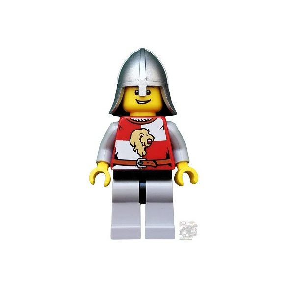 Lego figura Kingdoms - Lion Knight Quarters, Helmet with Neck Protector, Open Grin