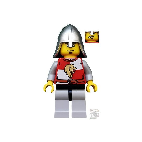 Lego figura Kingdoms - Lion Knight Quarters, Helmet with Neck Protector, Eyebrows and Goatee