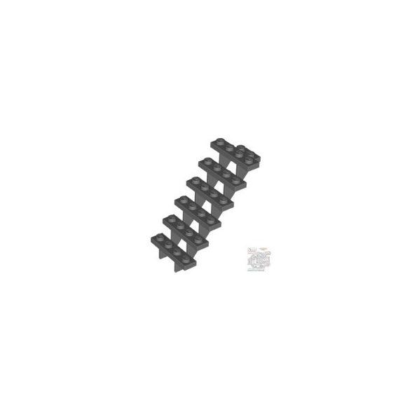Lego lépcső Staircase 7X4X6, Dark stone grey
