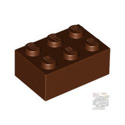 Lego Brick 2X3, Reddish brown