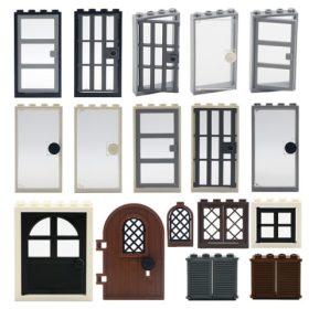 LEGO Ajtók, ablakok, üvegek