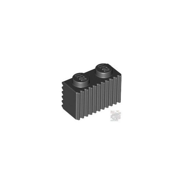 Lego Profile Brick 1X2, Black