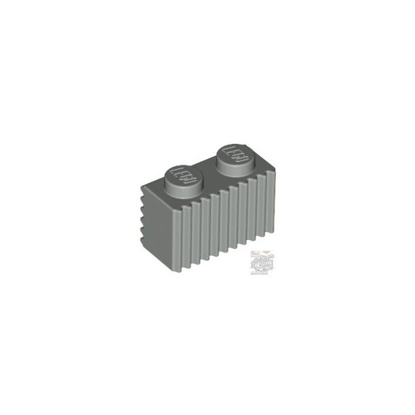 Lego Profile Brick 1X2, Medium stone grey