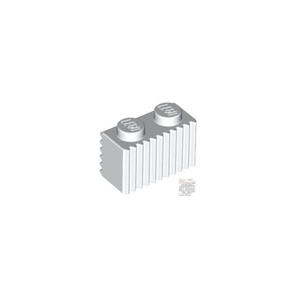 Lego Profile Brick 1X2, White