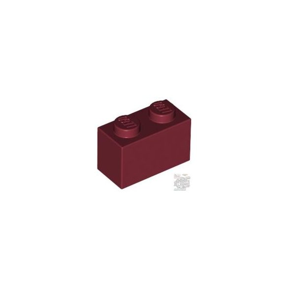 Lego Brick 1x2, Dark red