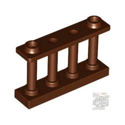 Lego Fence 1X4X2 W. 2 Knobs, Reddish brown
