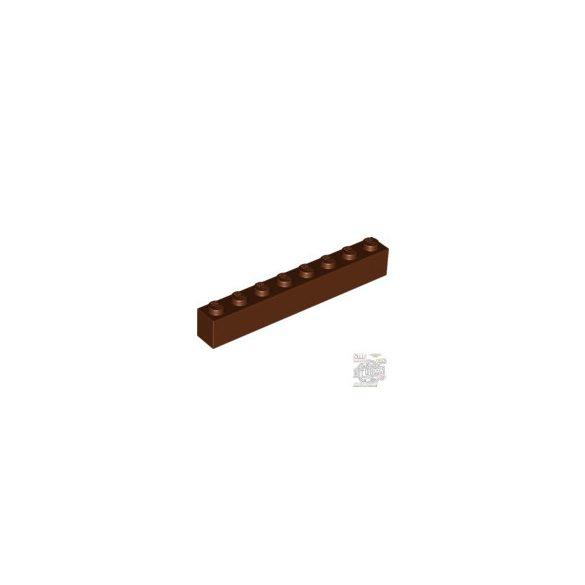 Lego Brick 1X8, Reddish brown