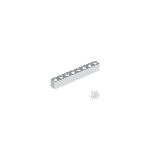 Lego Brick 1X8, White