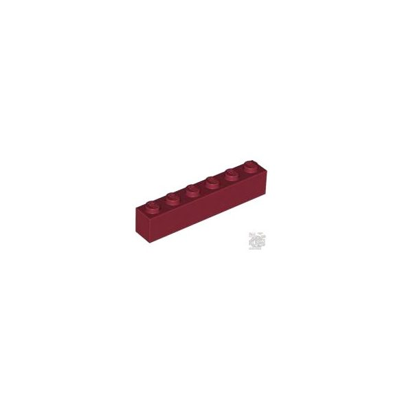 Lego Brick 1X6, Dark red