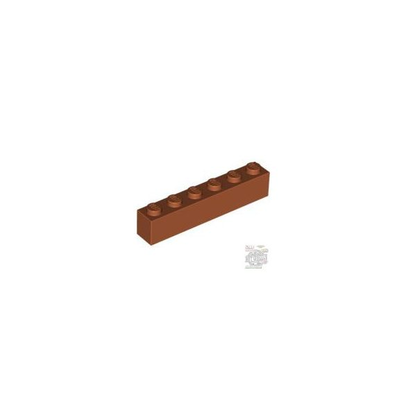 Lego Brick 1X6, Dark orange