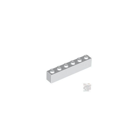 Lego Brick 1X6, White