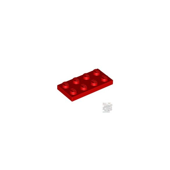 Lego Plate 2x4, Bright red