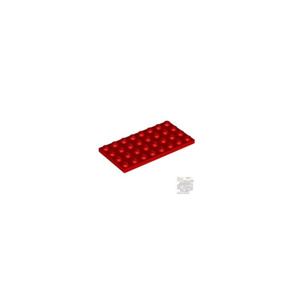 Lego Plate 4X8, Bright red