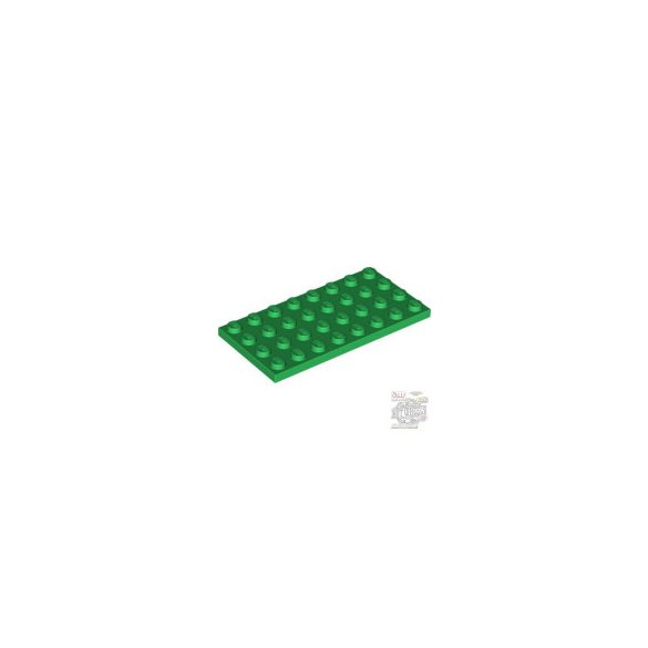 Lego Plate 4X8, Green