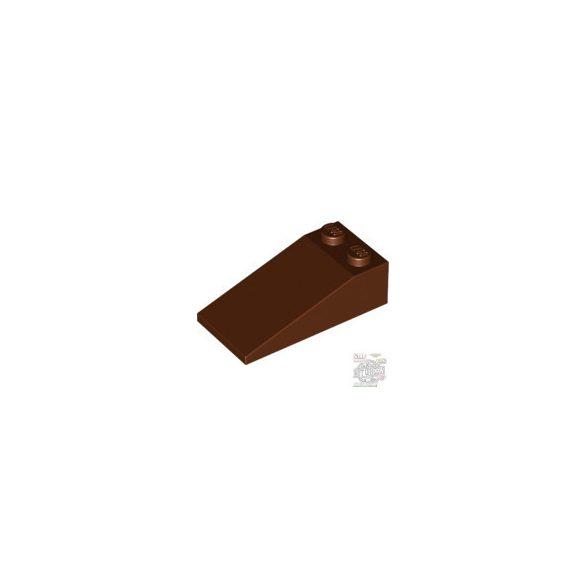 Lego Roof Tile 2X4X1, 18°, Reddish brown