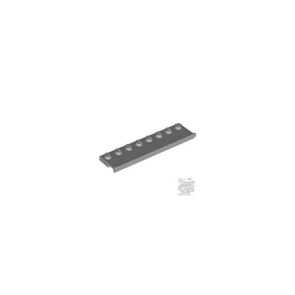 Lego Plate 2X8 W/Gliding Groove, Light Grey