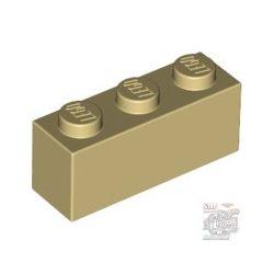 Lego Brick 1X3, Brick yellow / Beige