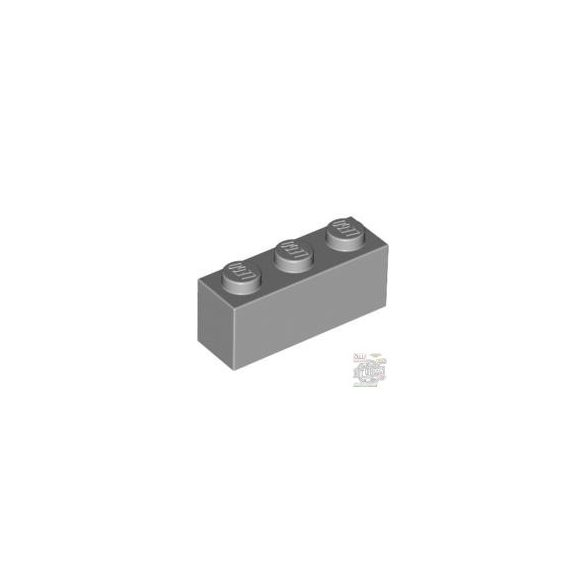 Lego Brick 1X3, Light grey