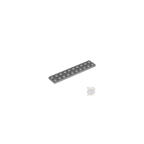 Lego Plate 2X10, Light grey