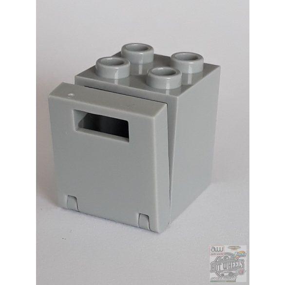 Lego Mailbox, Casing 2X2X2, Light grey