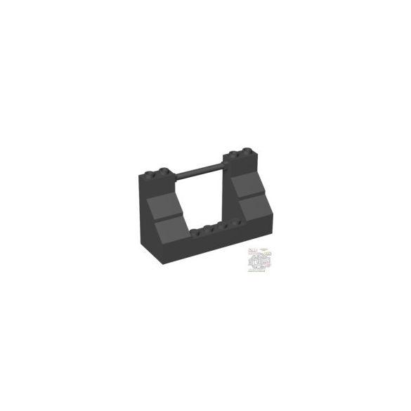Lego Wall Elem. 3X8X4 W/Stick Ø3.2, Black